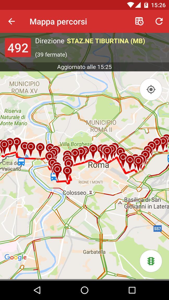 Mappa percorso bus